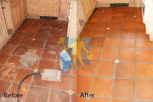 Terracotta Before and After repairing and cleaning