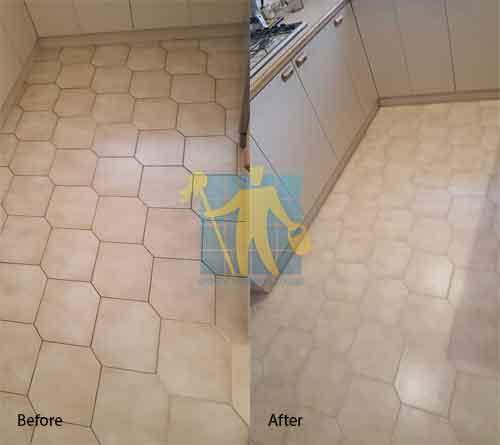 before and after ceramic floor regrouting Sydney