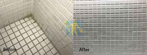 before and after ceramic regrouting Sydney
