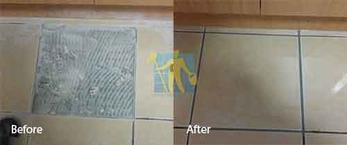 tile repair before and after kitchen floor