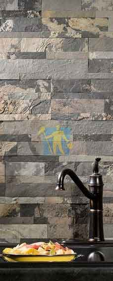 Medley Slate Peel and Stick Stone Backsplash Sydney