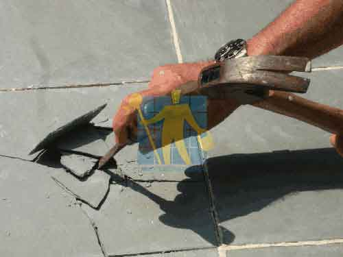 start repairing by Removing the Slate Tile Shards Sydney