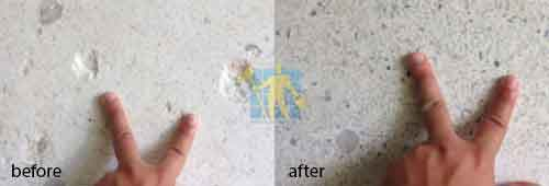 before and after terrazzo restoration and repair crack