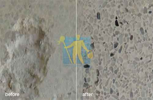 terrazzo floor scratch before and after